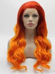 Beautiful Malaysian Lace Wigs Australia - Glueless 100% unprocessed affordable beautiful virgin remy human hair long orange natural wave full lace wig cheap for women