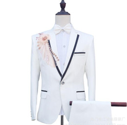 $enCountryForm.capitalKeyWord Australia - Factory direct sales wedding suits men blazer mariage suits fashion slim masculino latest coat pant designs chorus clothes white