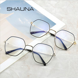 b123050dc3e8 SHAUNA Anti Blue Ray Glasses Square For Women Myopia Computer Frame  Prescription Eyeglasses Clear Lens Optical Glass Men