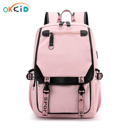 waterproof school book bag Canada - OKKID bags children girls kids book bag cute pink gift waterproof big school backpack for teenage girl