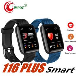 $enCountryForm.capitalKeyWord Australia - Best seller 116 Plus Smart Bracelet Heart Rate Blood Pressure Fitness Sleep Tracker Wristband For Android iOS Smart Band Watch Smartband Men