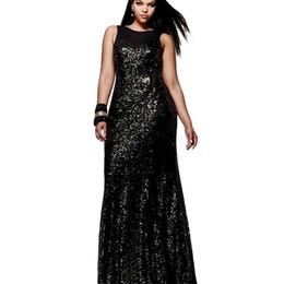 Celebrity Occasions Dresses UK - Mermaid Evening Dress 2018 Scoop Celebrity Vestidos Formal Golden Red Black Sequins Special Occasion Dresses calda de sereia Evening Dresses