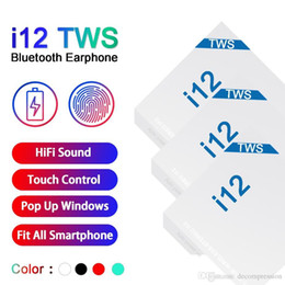 Touch mic online shopping - i12 tws bluetooth wireless bluetooth headphones support pop up window Earphones colorful touch control wireless headset earbuds hot sale