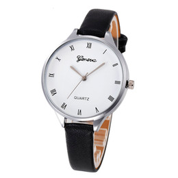 watches gogoey NZ - Business Women Watches Geneva Dial Quartz Wristwatch Ladies Fashion Leather Strap Casual Clock Gfit Zegarki Damskie@50
