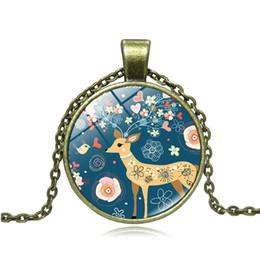 $enCountryForm.capitalKeyWord Australia - Fashion Alloy Pendant Christmas Deer Necklace Retro Style Xmas Chain Gift for Children Kids Wholesale Retail Free Shipping