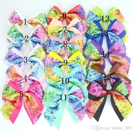 $enCountryForm.capitalKeyWord Australia - 16 Color Baby Girls Hair Bow Diy Accessories Infants Sequin Bows Without Clips Kids Boutique Colorful Gradient Hairbows