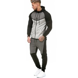 $enCountryForm.capitalKeyWord Australia - Men Winter Zipper Sweatshirt Top Pants Sets Sports Suit Tracksuit Hooded Rapper New Year Hip Hop Christmas Swag Hoody StreetWear
