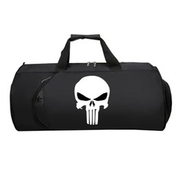 Wholesale Comic Punisher Travel luggage Bag Men Women luggage Package teenagers Large Capacity Multifunctional Strap Duffel Shoulder bag