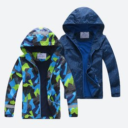 Discount korean long summer jackets - 2019 New Spring Children baby kid jacket For Boy Kids Warm Teenage Coat Kids Fleece Windbreakers Water Proof Korean Clot