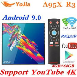 Discount play store box - New Youtube 4K Smart TV Box Android 9.0 4GB RAM 64GB ROM A95X R3 TV Box 2G 16G 32G RK3318 Media Player USB3.0 Google Pla