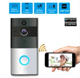 Door bells online shopping - Wireless Battery Powered Smart Doorbell Camera Smart Video Door Bell