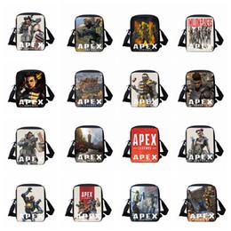Wholesale apex legends cosplay for sale – custom 40styles Apex Legends handbags School Bag student backpack shoulder bag Printed Cosplay Wallet kids crossbody bookbag kids handbag FFA1718