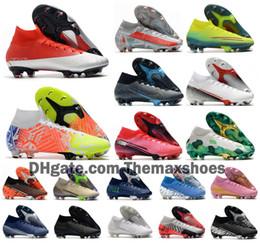 Wholesale 2020 Mercurial Superfly VII 7 360 Elite SE FG Future DNA Lab 002 CR7 Ronaldo Neymar NJR Mens Boys Soccer Shoes Football Boots Cleats US3-11