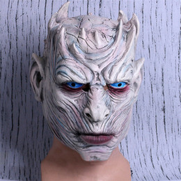 Halloween Games For School Australia - Hot!!!!Game Of Thrones Halloween Mask Night's King Walker Face NIGHT RE Zombie Latex Mask Adults Cosplay Throne Costume Party Mask