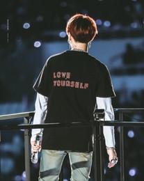 Pop Tees Australia - Love Yourself World Tour T Shirts Bangtan Boys V Summer T Shirt Female Harajuku Girl Shirt K-pop Short Sleeve Tees