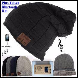 $enCountryForm.capitalKeyWord NZ - Wireless Bluetooth 3.0V Beanie Knitted Plus Velvet Winter Hat Headset Speaker Mic Hand-free Music Mp3 Magic Smart Cap