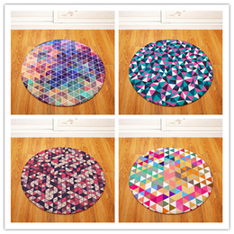 $enCountryForm.capitalKeyWord Australia - Round Carpets for Living Room Geometric Printed Parlor Bedroom Chair Rugs Toilet Bath Decorate Non-slip Door Mat