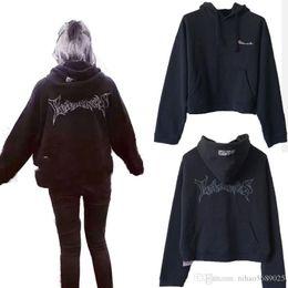 Vente en gros hiphop streetwear vêtements urbains vêtements kpop vêtements kanye west logo à capuche 3in 1 Vetements polizei sweatshirt à capuche réversible