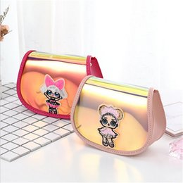 $enCountryForm.capitalKeyWord Australia - Cute Surprise Girls Fanny Pack Laser Chain Bag Cartoon Cross Body Shoulder Bag PU Leather Wallet Coin Purse Cosmetic Bag 6 Colors B71702