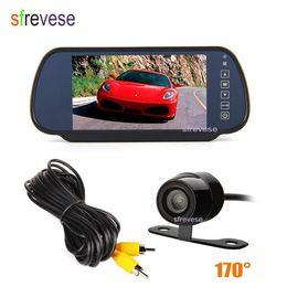 "$enCountryForm.capitalKeyWord NZ - 7"" Car LCD TFT Monitor Mirror + Mini Waterproof Car Vehicle Rearview Reverse Parking Backup Camera Rear view Kit 170 Degree"