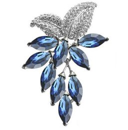 $enCountryForm.capitalKeyWord UK - Big Crystal Flower Large Brooch Grape Pins and Brooches Wedding Jewelry Bijouterie Corsage Dress Coat Accessories