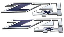 Chevy Wholesale Australia - Free shipping Aimoll 2pcs OEM Z71 4x4 Emblems Badge Sticker for GMC Chevy Silverado Sierra Tahoe Suburban New 1500 2500 3500 Decal