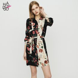 China Women's Clothes Wind French Romantic Personality Dichroic Printing Splicing Paragraph Shirt Type Dress T190712 cheap s type personality suppliers