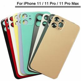 venda por atacado 50pcs Vidro traseiro com grande buraco para o iPhone de 11 Voltar habitação para iphone 11 pro bateria max caso capa porta traseira substituição