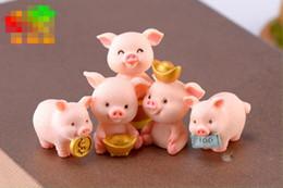 $enCountryForm.capitalKeyWord Australia - Fortune pig DIY meaty micro landscape cake car ornaments cartoon pendant piglet resin crafts