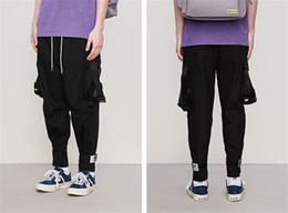 Stereo Skateboards NZ - Mens Spring Cargo Pants Stereo Pockets Reflective Skateboard Loose Pants Casual Street Hiphop Mens Trousers
