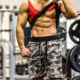e5666d1145c8b6 Weight Lifting Shorts NZ - Men's Army Camouflage Shorts With Pockets  Bodybuilding Clothing Men Golds Athlete