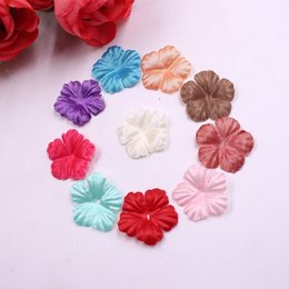 $enCountryForm.capitalKeyWord Australia - 100pcs Mini Silk Rose Petal Leaf Artificial Flower Wedding Home Decoration Diy Wreath Hat Material Gift Box Clip Clip Flower