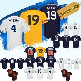 e6452421a HOT San Diego men Padres Baseball Jerseys 19 Tony Gwynn 4 Wil Meyers  Baseball Jersey Cheap sales