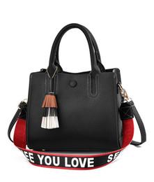 4c02639004511 Handtasche Dame 2019 neue Mode Retro Fransen Quadrat Tasche Einzel-Schulter  Mode schwarz einfache Umhängetasche