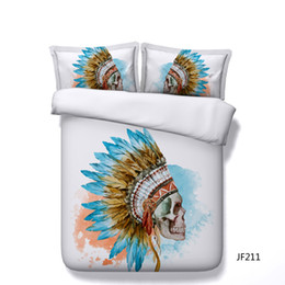 Print Duvet NZ - 3PC Sugar Skull Bedding Duvet Cover Set 3D Day Of The Dead Printed Bedding Set Comforter Cover With Zipper Closure And 2 Pillow Shams