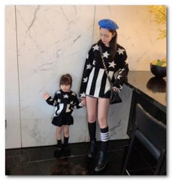 Son daughter mother matching clotheS online shopping - Mother and daughter matching outfits kids star knitted sweater pullover girls piano keys long sleeve jumper winter new kid clothes J0320