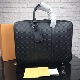 Luxury business briefcase man online shopping - designer handbags man briefcase luxury purse bag classical designer bags L purse business top quality briefcases