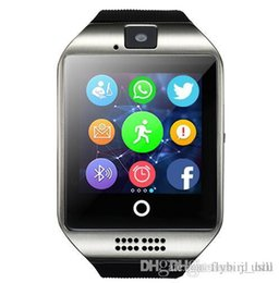 Sim Compatible Smart Watch Australia - Foctory Price Bluetooth Smart Watch Q18 With Camera Facebook Whatsapp Twitter Sync SMS Smartwatch Support SIM TF Card For IOS Android