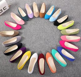 Cotton Candy Color Shoes Australia - 2019 fashion pointed single shoes female flat bottom shallow mouth candy color women's shoes large size women's shoes 43 size