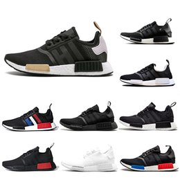 military running shoes NZ - Cheap R1 black beige Bred Oreo Running Outdoor Shoes Men Women Japan Withe Tri-Color Triple red Military Green Sports Trainer Sneakers 36-45
