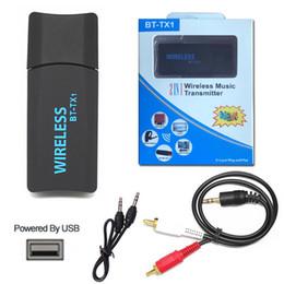 Wireless Usb Music Headphones Australia - BT-TX1 USB Wireless Bluetooth Transmitter Portable Music Stereo Audio Adapter for TV PC Computer Laptop Bluetooth Headphones Speakers