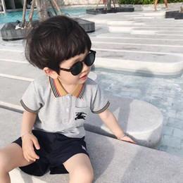 Venta al por mayor de Envío gratis Nuevos Niños Niños Camisas de Polo Sólido 2019 Manga Corta Uniformes Escolares de Verano Grandes Adolescentes Niños Niñas Tops de Solapa de Algodón