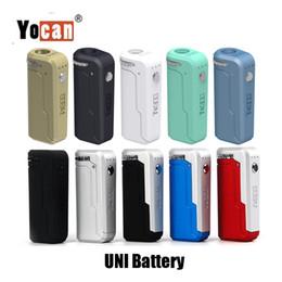100% d'origine Yocan UNI Box Mod 650mAh Batterie Préchauffer Tension Variable VV Vape Mods Avec Magnétique 510 Adaptateur Pour Cartouche D'huile Épaisse en Solde