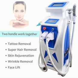 Permanent Hair System Australia - Big Spot size Elight IPL machine for permanent hair removal skin rejuvenation E-light IPL Nd yag laser system