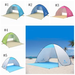 OutdOOr tents fOr camping online shopping - Outdoor Beach Tents Shelters Shade UV Protection Ultralight Tent for Fishing hiking Picnic Park beach ZZA316
