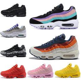 Cheap White Flats For Women Australia - Cheap Sports Running Shoes for Men Women Triple Black White blue Athletic walking Tennis Shoes yellow grey women Training Sneakers