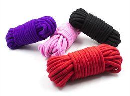 $enCountryForm.capitalKeyWord Australia - 5M Fetish Alternative slave bondage rope Restraint CottonTied Rope for couples adult game BDSM roleplay 4Colors Free Shipping