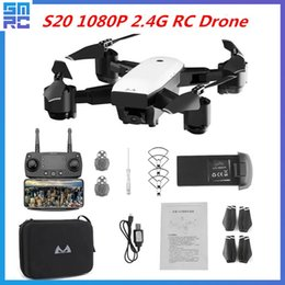 Cameras For Drones Australia - Smrc S20 Drone With Hd 1080p 4k Camera Quadrocopter Hovering Fpv Quadcopters 5mp Folding Rc Helicopter Storage Bag Toy For Boy C19041901