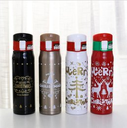 $enCountryForm.capitalKeyWord Australia - Christmas Deer Thermos Cup Portable Thermal Water Bottle Stainless Steel Vacuum Flask Insulated Thermo Cup Christmas Gift Joyshaker bottle