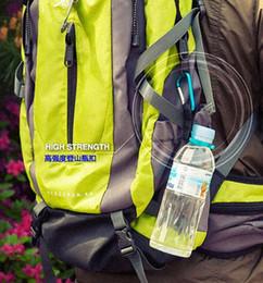 Water Bottle Straps Holders Australia - Hook Holder Clip Strap For Camping Hiking Survival Carabiners for Bottles Camping Carabiner Water Bottle Buckle Traveling tools-p
